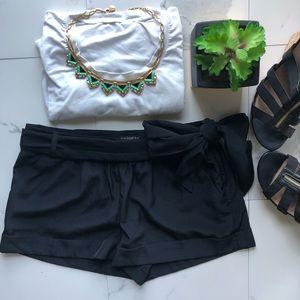 Express Black Tie Shorts